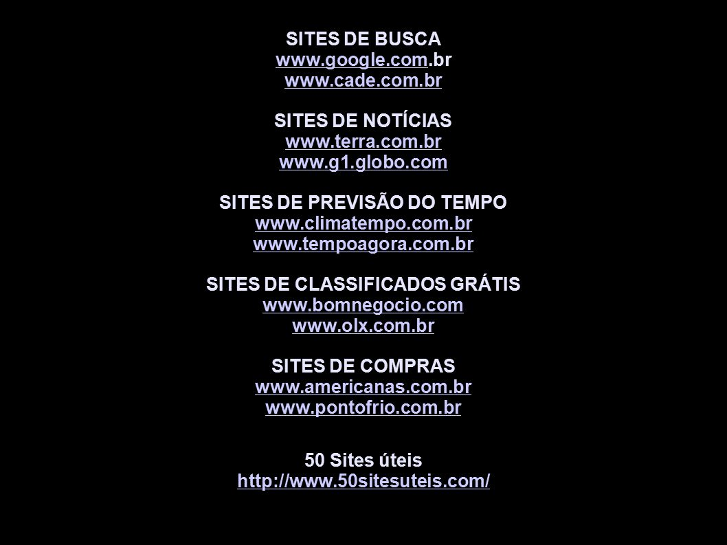 SITES DE PREVISÃO DO TEMPO SITES DE CLASSIFICADOS GRÁTIS