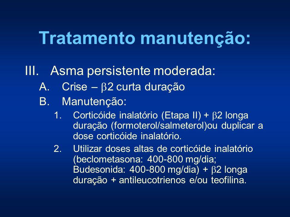 Tratamento manutenção: