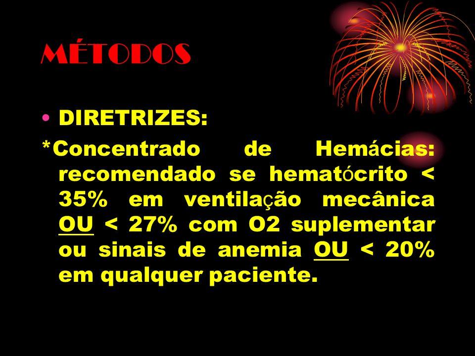MÉTODOS DIRETRIZES: