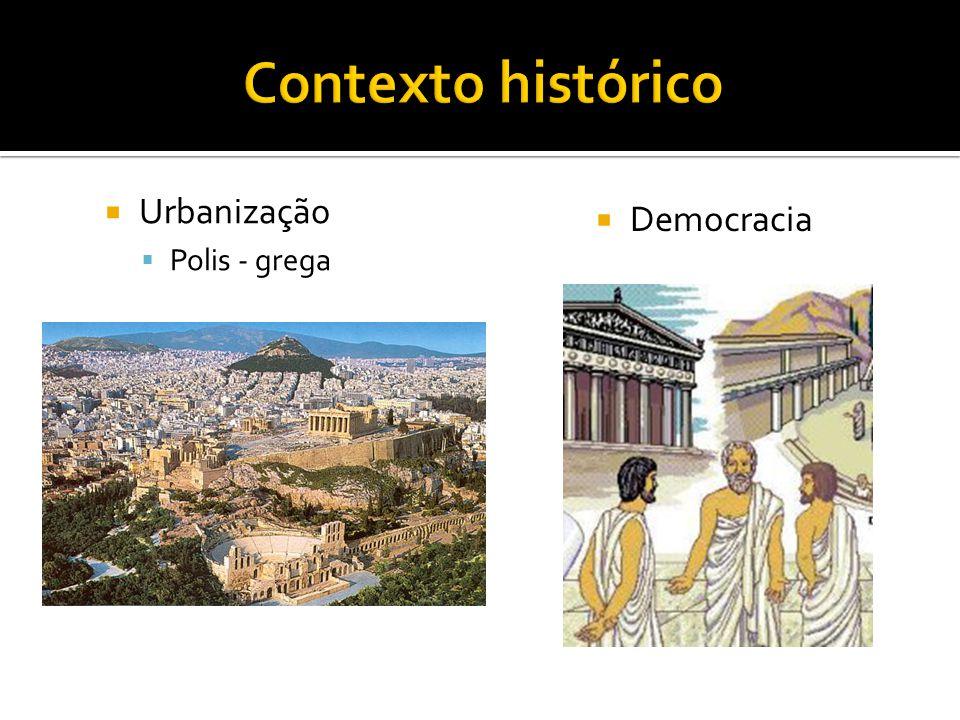 Contexto histórico Urbanização Polis - grega Democracia