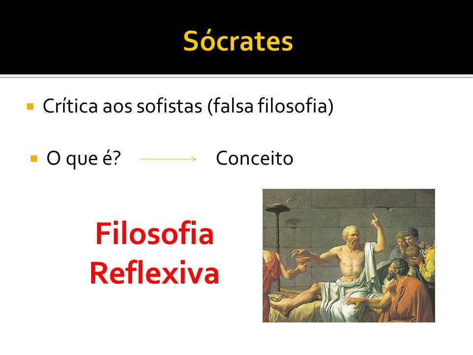 Filosofia Reflexiva Sócrates Crítica aos sofistas (falsa filosofia)