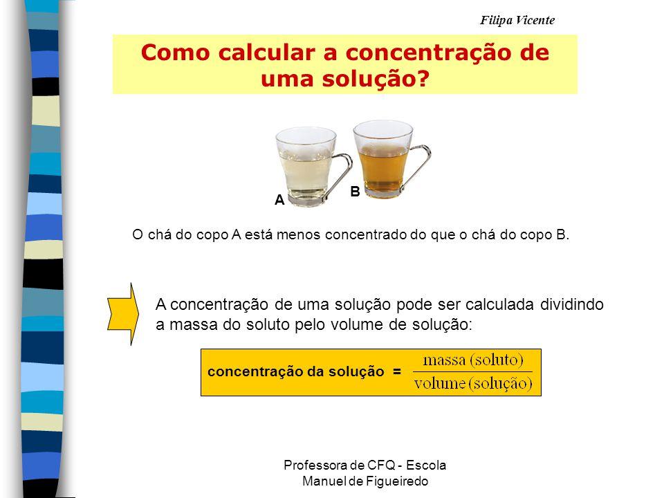 Como calcular a concentração de uma solução