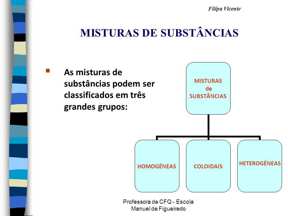 MISTURAS DE SUBSTÂNCIAS