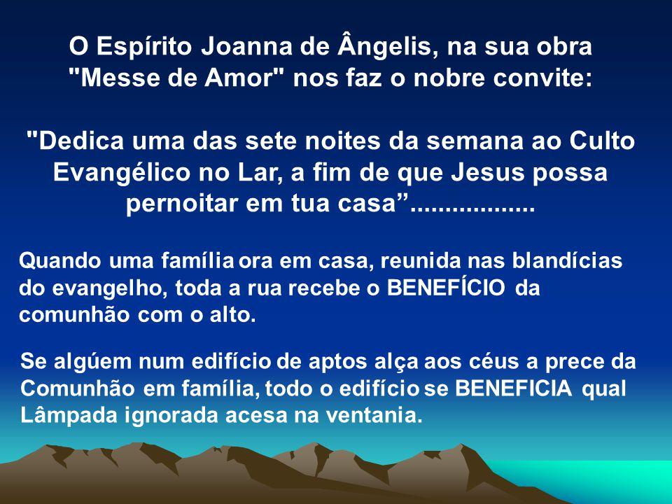 O Espírito Joanna de Ângelis, na sua obra Messe de Amor nos faz o nobre convite: