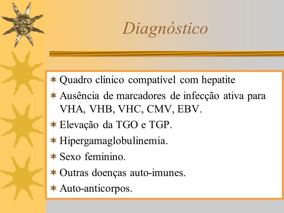 Diagnóstico Quadro clínico compatível com hepatite
