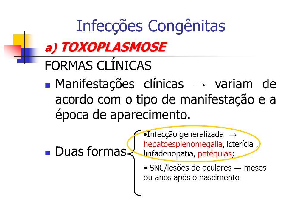 Infecções Congênitas FORMAS CLÍNICAS