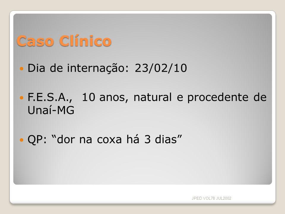Caso Clínico Dia de internação: 23/02/10