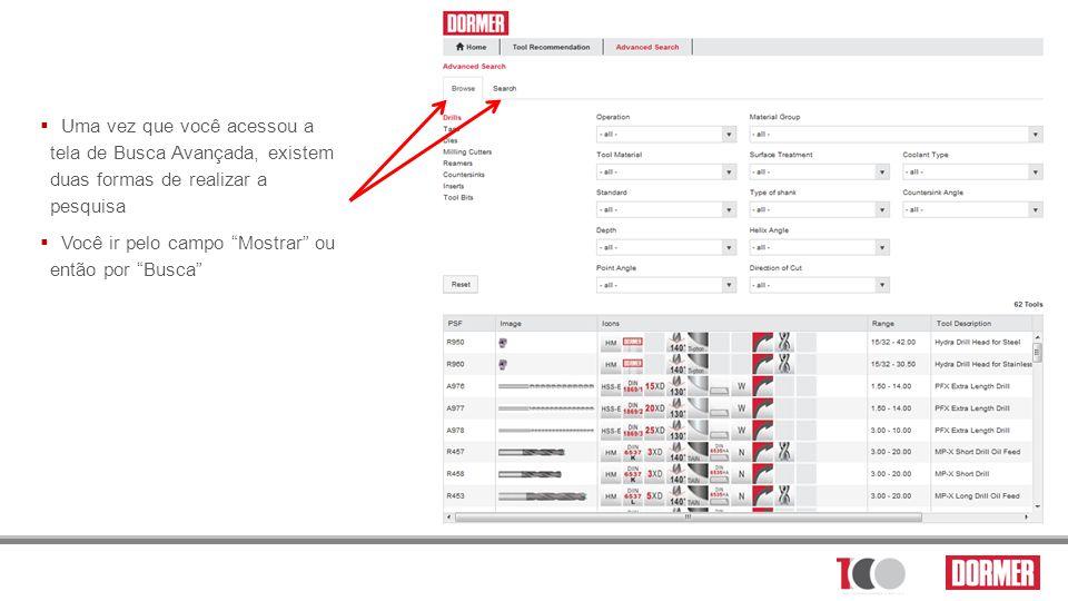 Uma vez que você acessou a tela de Busca Avançada, existem duas formas de realizar a pesquisa
