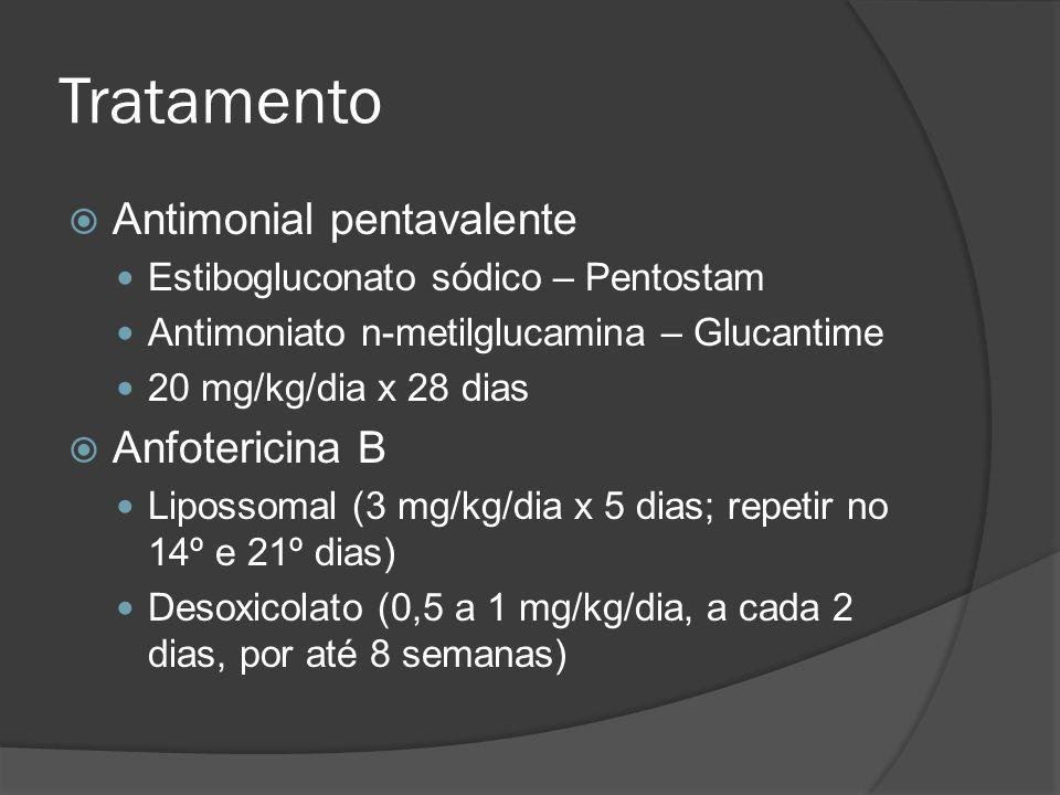 Tratamento Antimonial pentavalente Anfotericina B