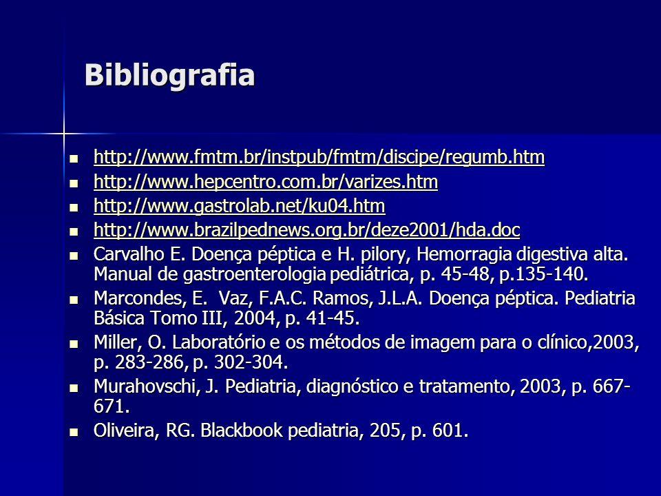 Bibliografia http://www.fmtm.br/instpub/fmtm/discipe/regumb.htm