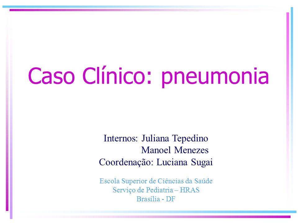 Caso Clínico: pneumonia