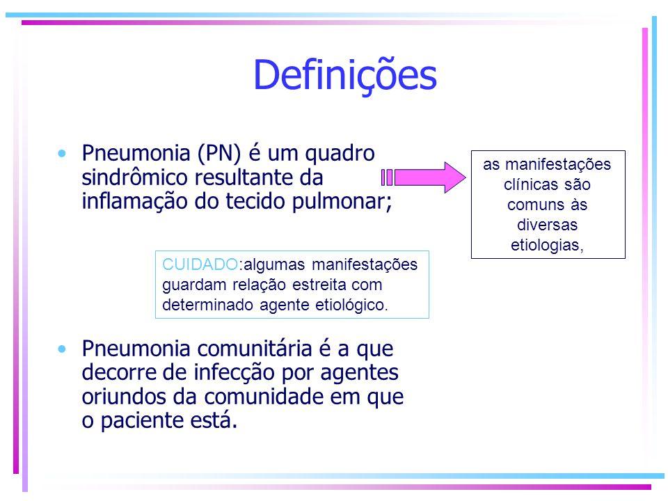 as manifestações clínicas são comuns às diversas etiologias,