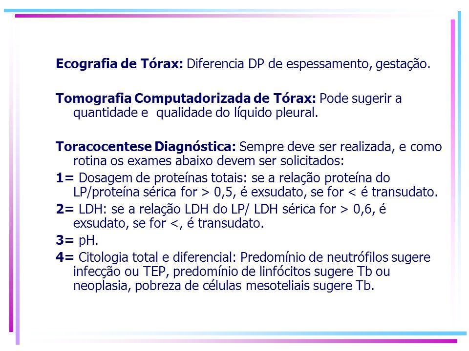 Ecografia de Tórax: Diferencia DP de espessamento, gestação.