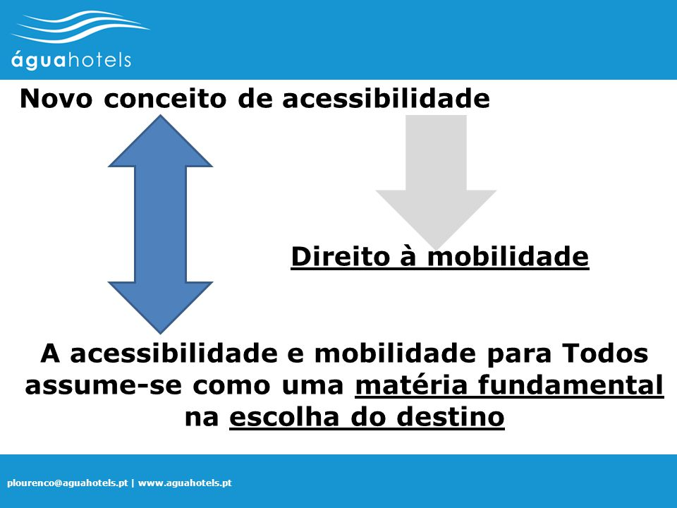 Novo conceito de acessibilidade