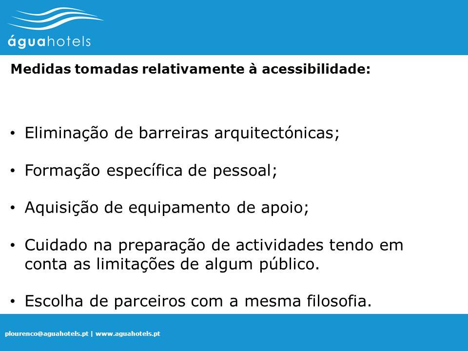 Eliminação de barreiras arquitectónicas;