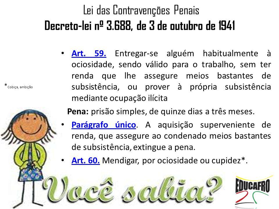 Lei das Contravenções Penais Decreto-lei nº 3