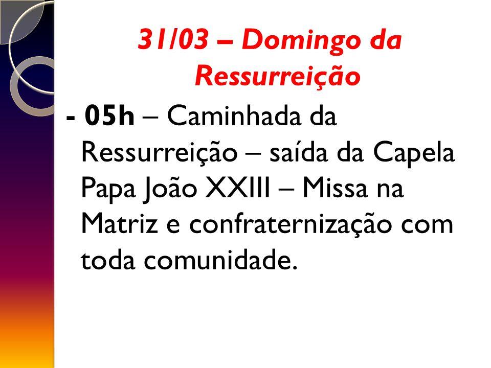 31/03 – Domingo da Ressurreição