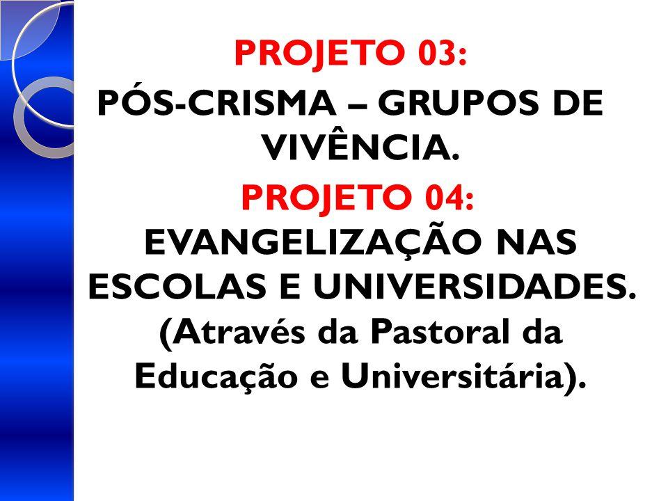 PÓS-CRISMA – GRUPOS DE VIVÊNCIA.