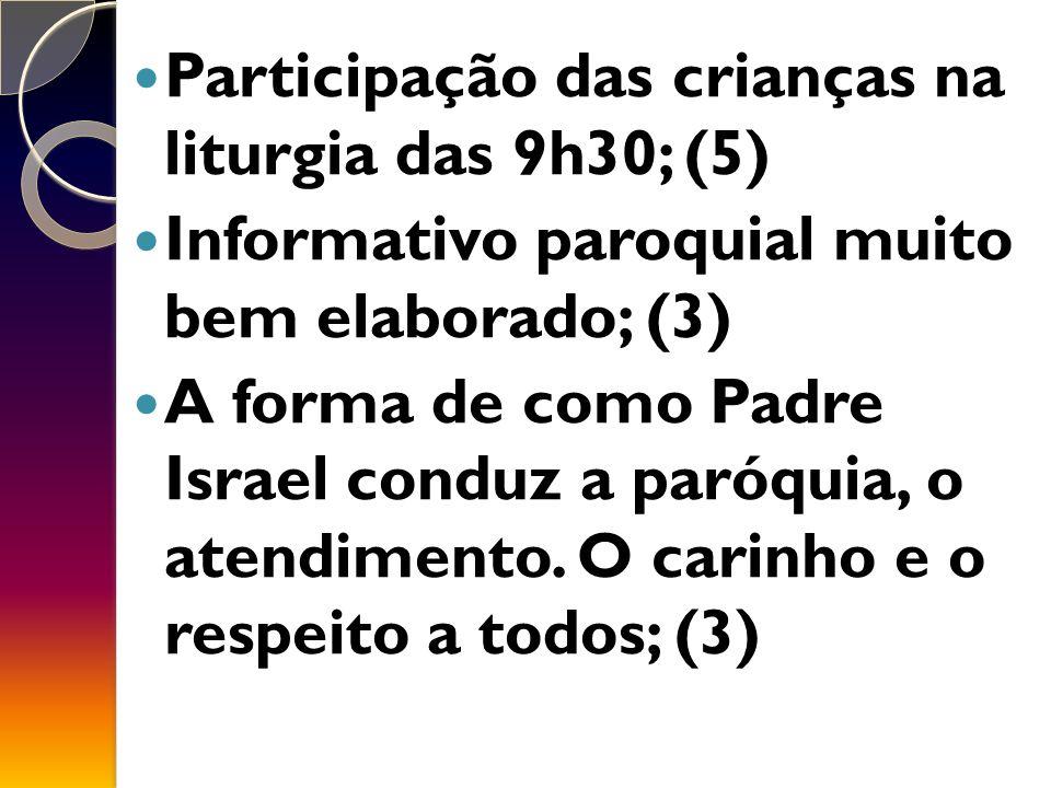 Participação das crianças na liturgia das 9h30; (5)