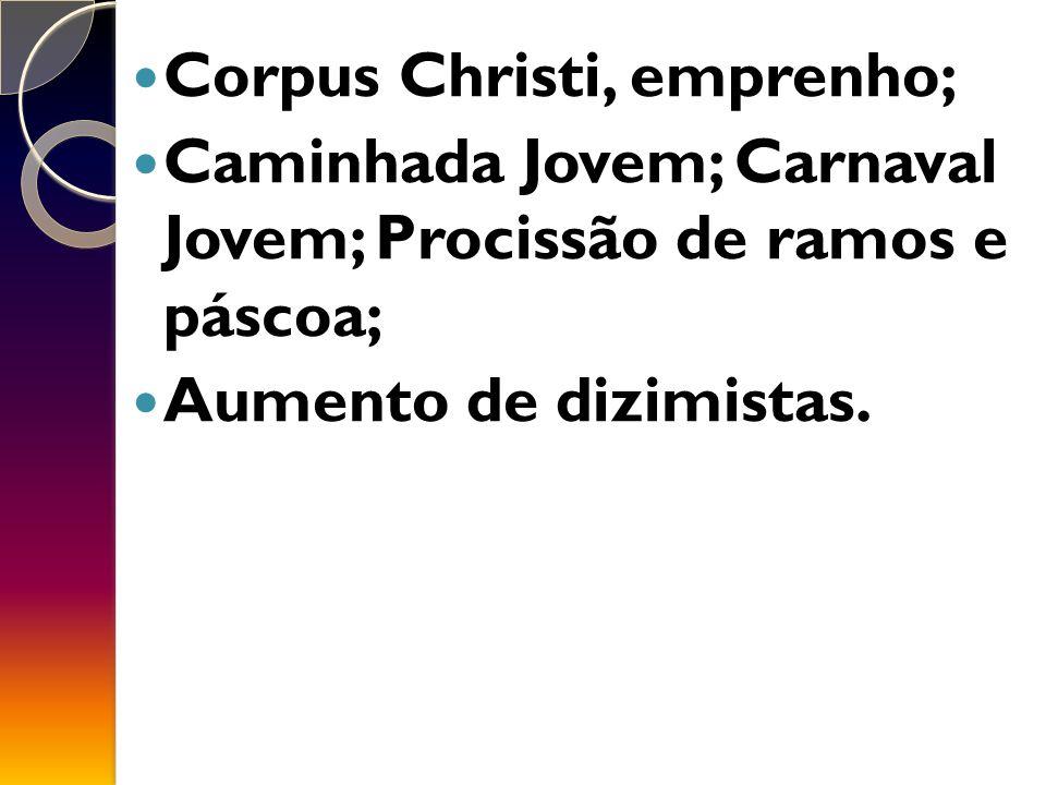 Corpus Christi, emprenho;