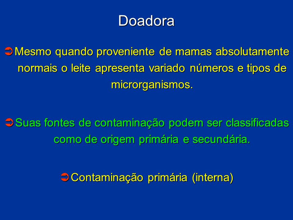Contaminação primária (interna)