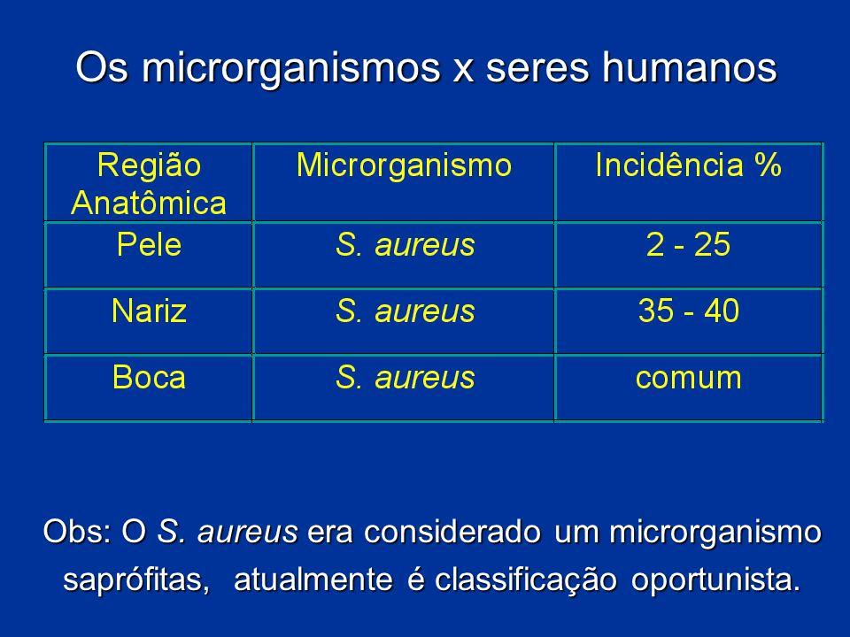 Os microrganismos x seres humanos