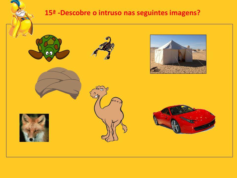 15ª -Descobre o intruso nas seguintes imagens