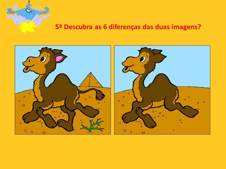 5º Descubra as 6 diferenças das duas imagens
