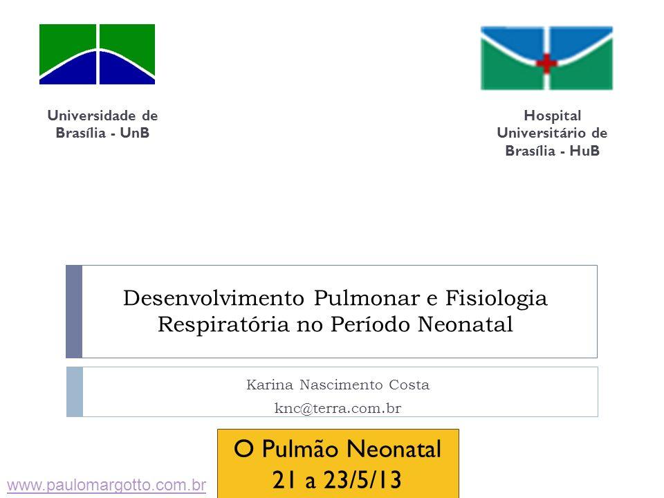 Desenvolvimento Pulmonar e Fisiologia Respiratória no Período Neonatal