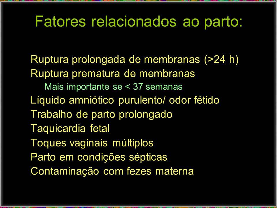 Fatores relacionados ao parto: