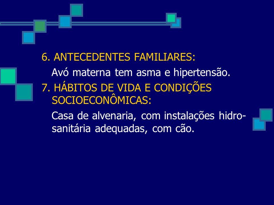 6. ANTECEDENTES FAMILIARES: