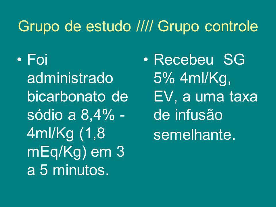 Grupo de estudo //// Grupo controle