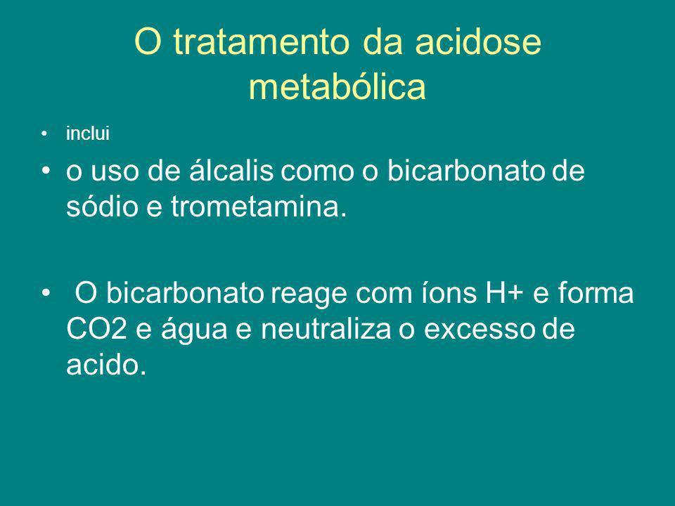 O tratamento da acidose metabólica