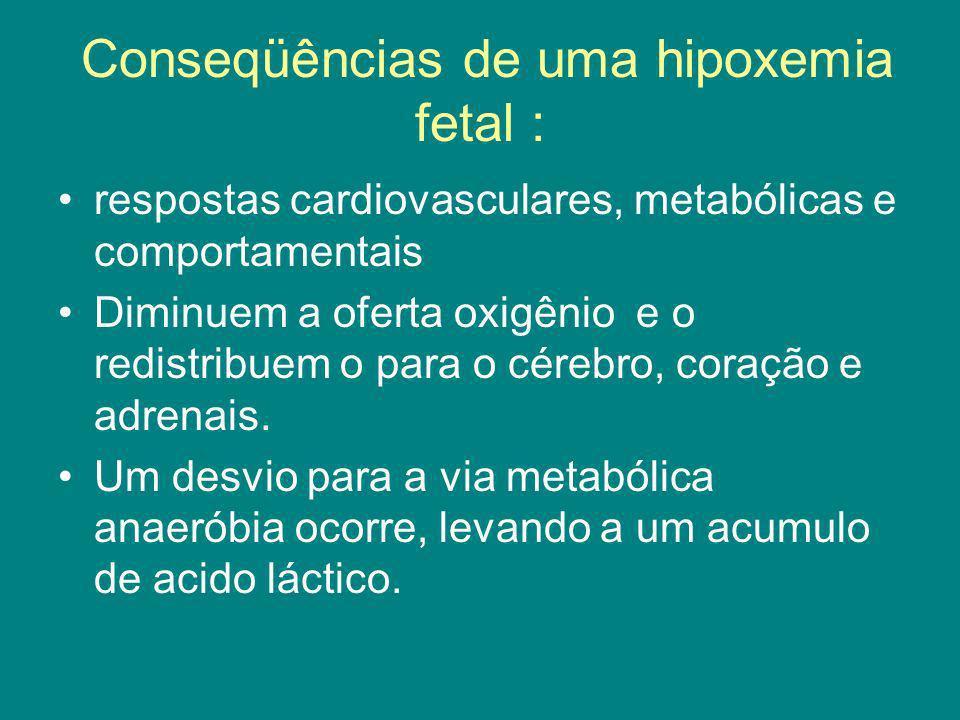 Conseqüências de uma hipoxemia fetal :