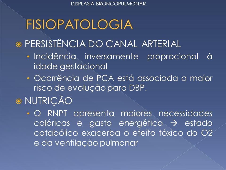 FISIOPATOLOGIA PERSISTÊNCIA DO CANAL ARTERIAL NUTRIÇÃO