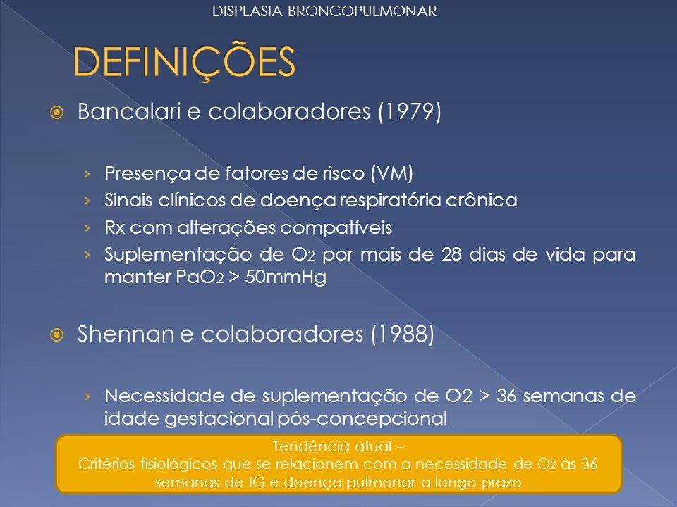Bancalari e colaboradores (1979)