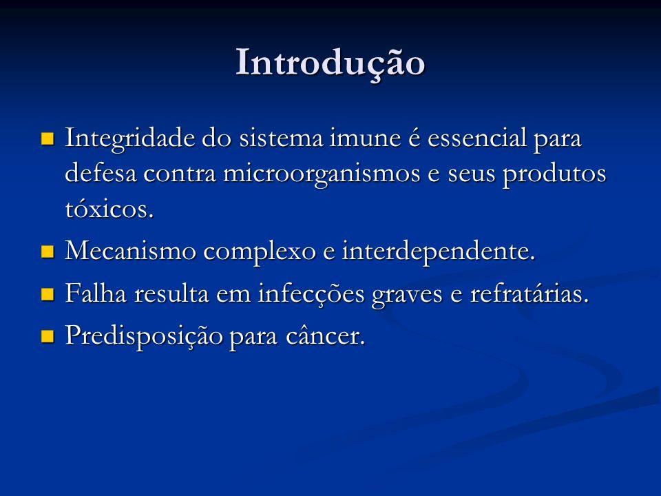 Introdução Integridade do sistema imune é essencial para defesa contra microorganismos e seus produtos tóxicos.