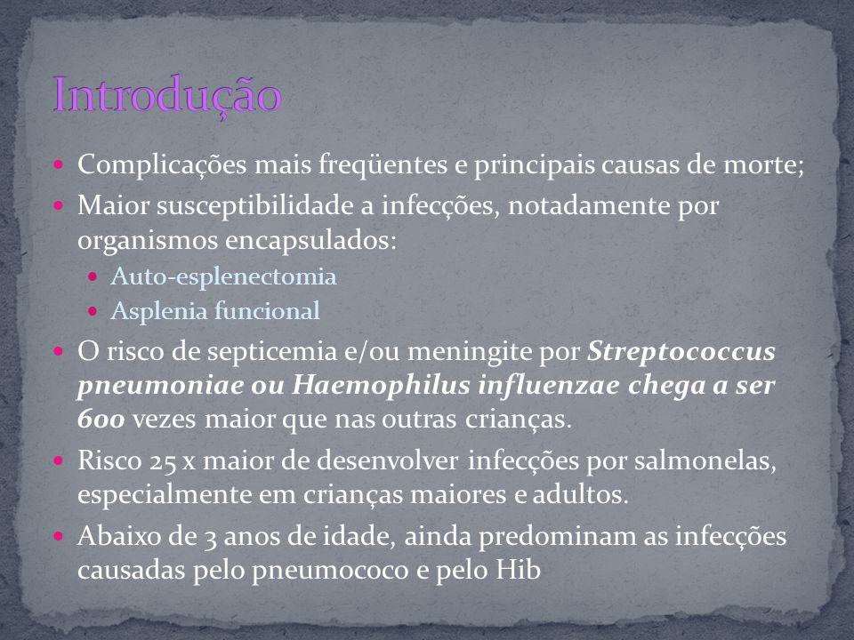 Introdução Complicações mais freqüentes e principais causas de morte;