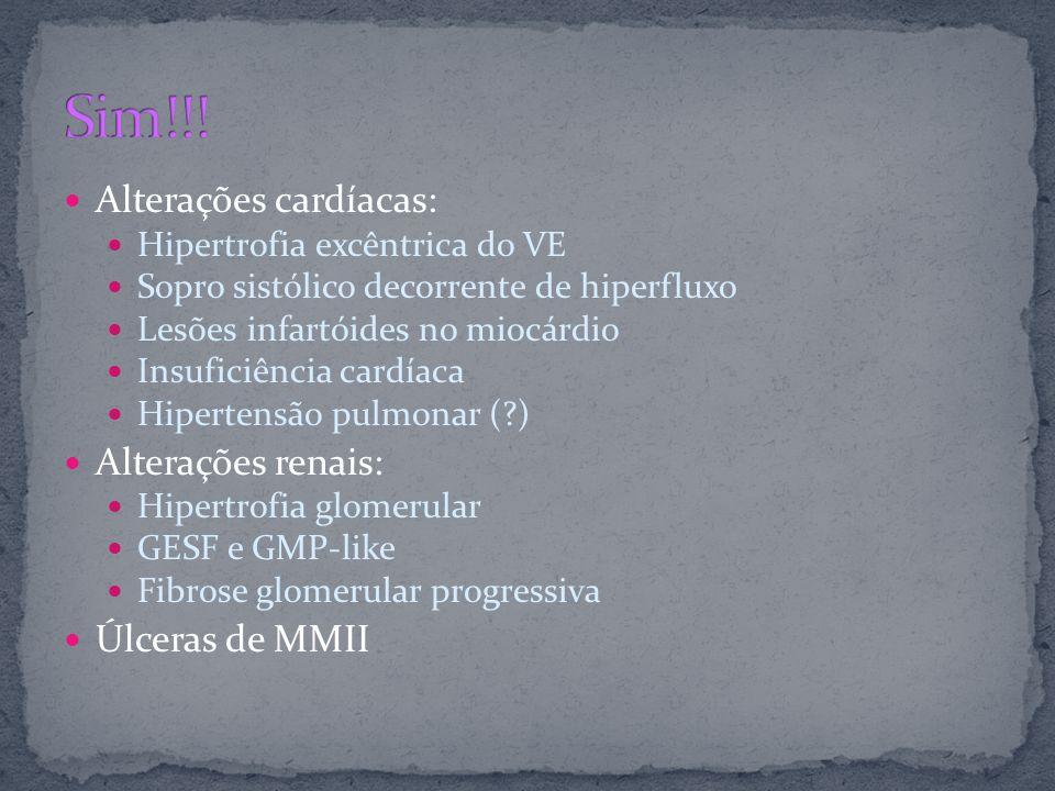 Alterações cardíacas: