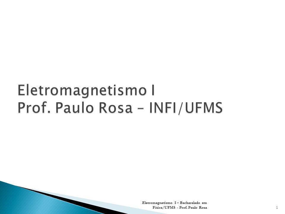 Eletromagnetismo I Prof. Paulo Rosa – INFI/UFMS
