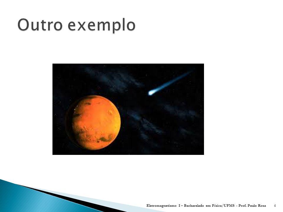 Outro exemplo Eletromagnetismo I – Bacharelado em Física/UFMS - Prof. Paulo Rosa