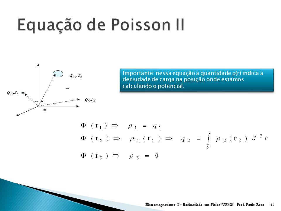 Equação de Poisson II q1 ,r1. q2 , r2. q3,r3.