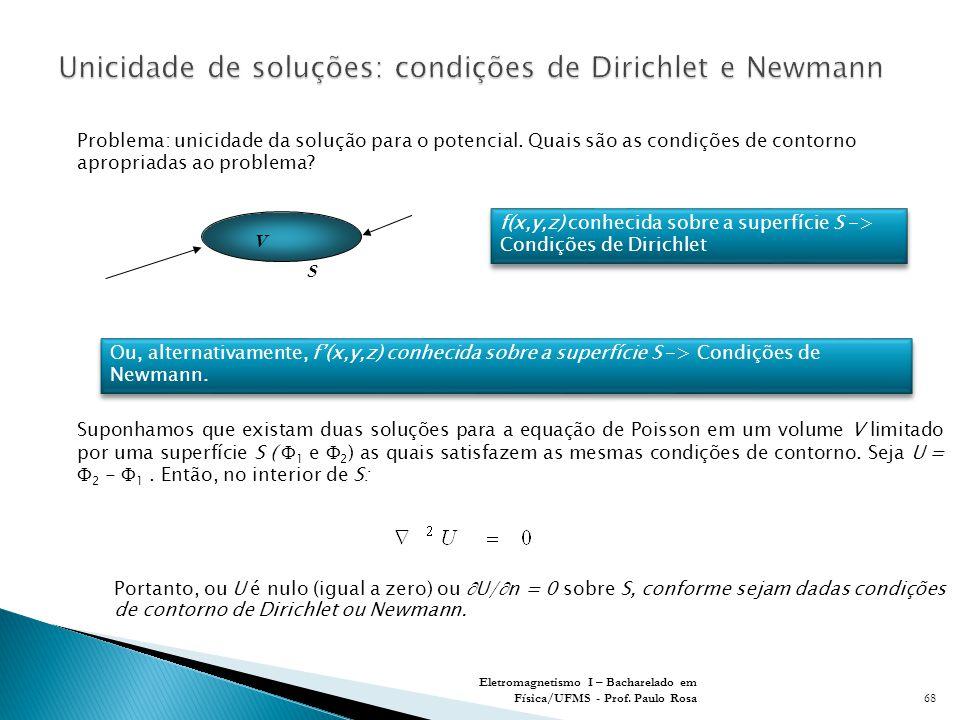 Unicidade de soluções: condições de Dirichlet e Newmann