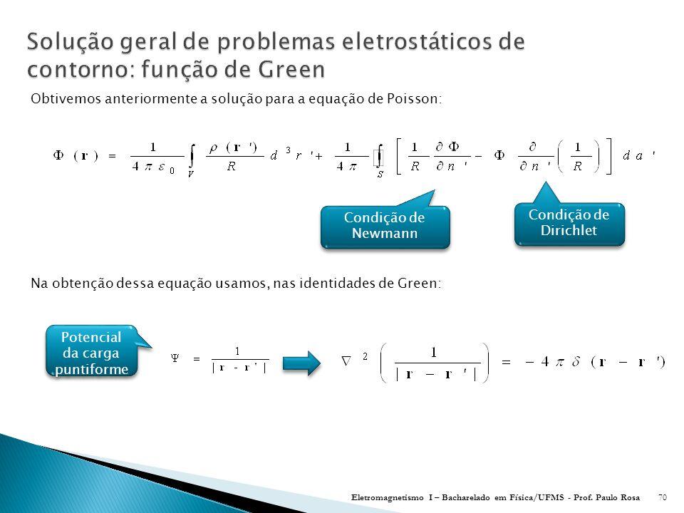 Solução geral de problemas eletrostáticos de contorno: função de Green