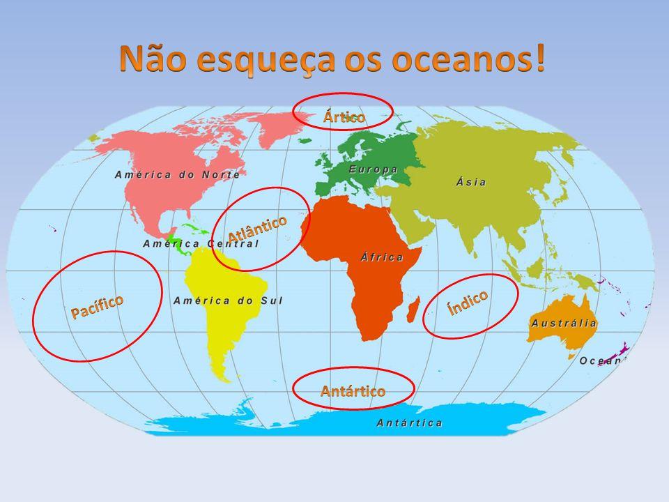 Não esqueça os oceanos! Ártico Atlântico Índico Pacífico Antártico