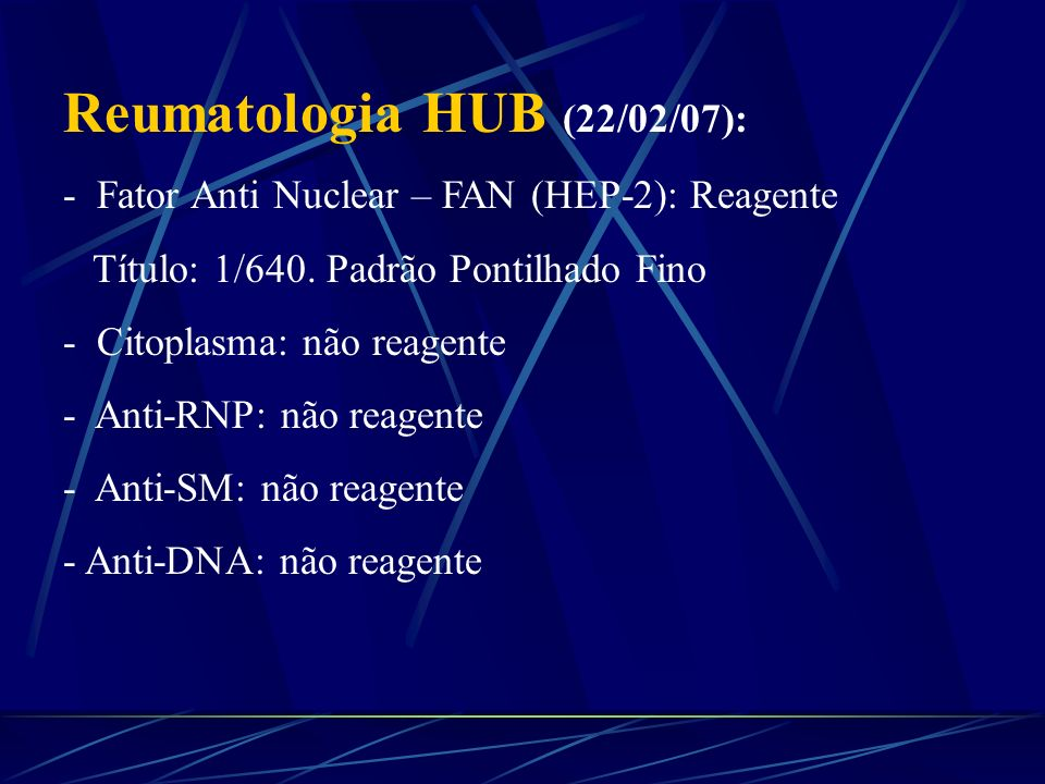 Reumatologia HUB (22/02/07):