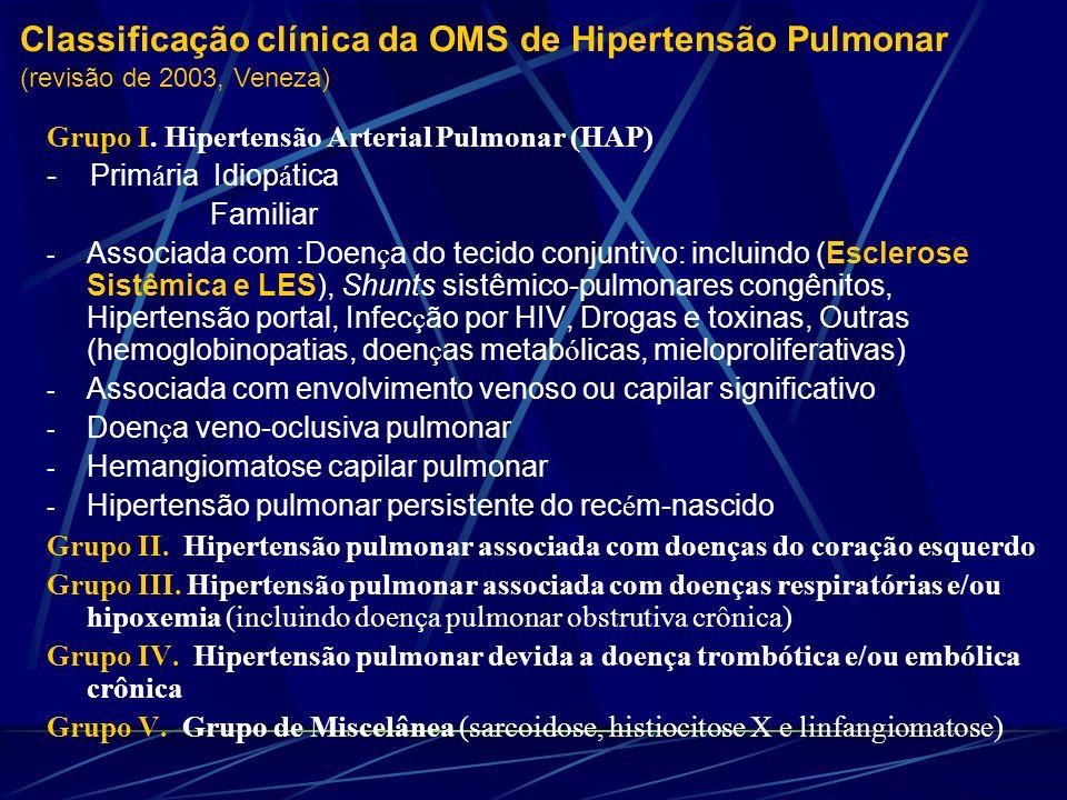 Classificação clínica da OMS de Hipertensão Pulmonar (revisão de 2003, Veneza)