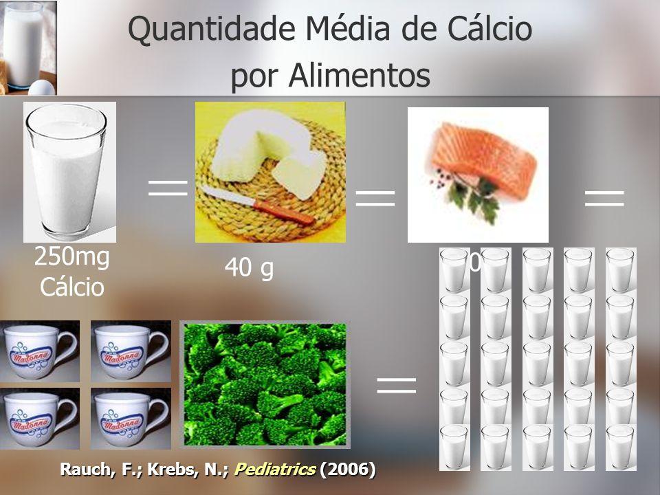Quantidade Média de Cálcio por Alimentos