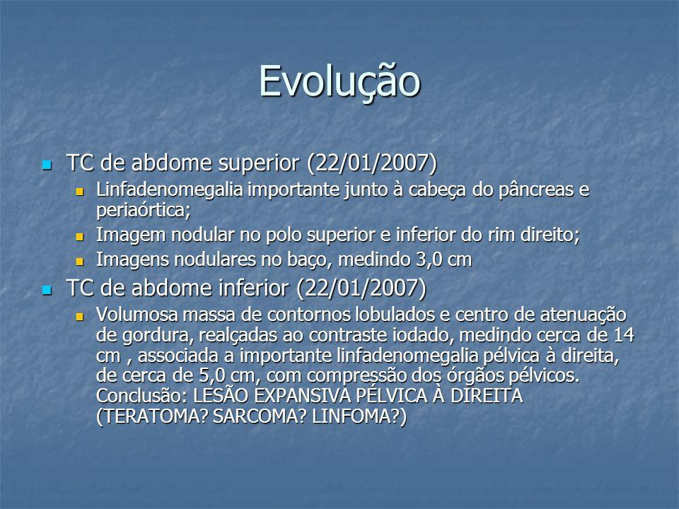 Evolução TC de abdome superior (22/01/2007)