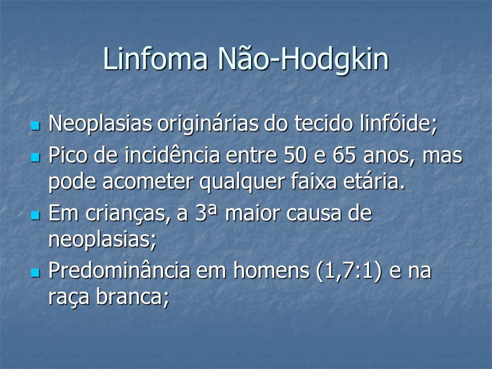 Linfoma Não-Hodgkin Neoplasias originárias do tecido linfóide;